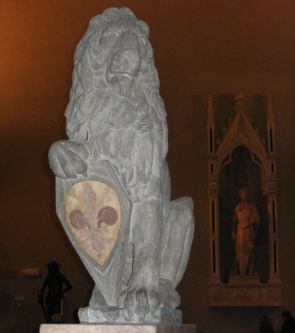 Donatello's lion, Marzocco, one of the symbols of Florence at the Bargello Museum