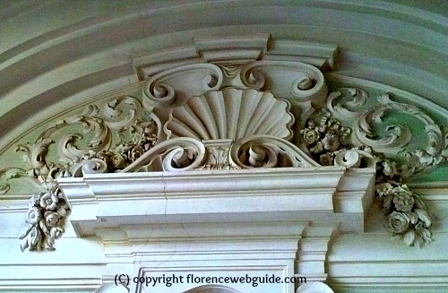 Baroque carvings decorate the interior