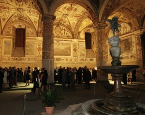The bi-annual antique show is held in a historic palace