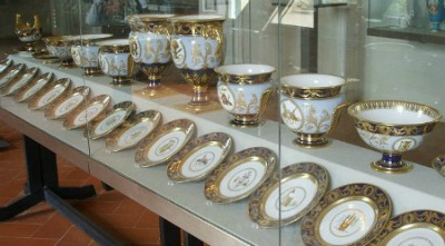 Intricately decorated porcelain tea set Florence Italy
