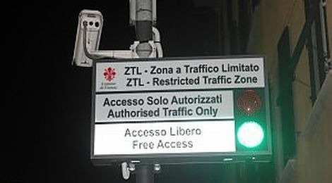 Limited traffic zone Florence Italy