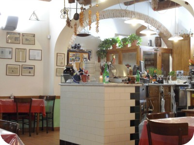 Cheap Restaurants in Florence - interior of Sabatino
