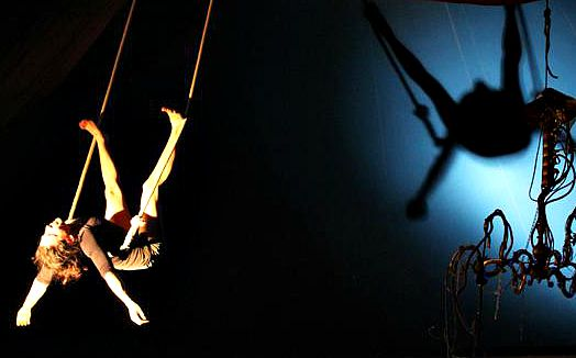 Trapeze artist from Cirkfantastik in Florence