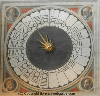 Paolo Uccello's liturgical clock in the Florence cathedral
