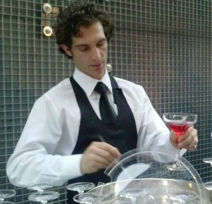 Aperitif Hour in Florence - Barman makes a refreshing cocktail