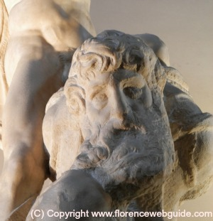 Close up detail of Michelangelo's 'Victory'