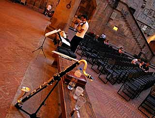 Firenze Suona Contemporanea festivalin the Bargello Museum courtyard