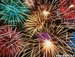 Florence celebrates its Patron Saint John the Baptist with fireworks
