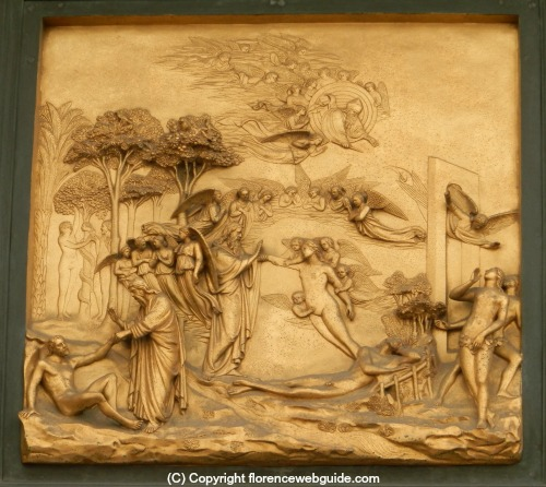 Ghiberti's panel of Adam & Eve