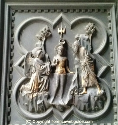 Pisano door panel Christ baptised