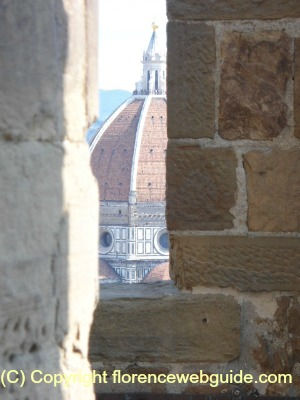 a glimpse of Duomo from the terrace of the tower
