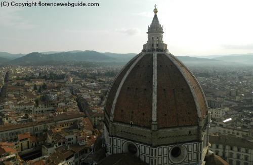 the Florence dome seen from above, this shot was taken from Giotto's bell tower