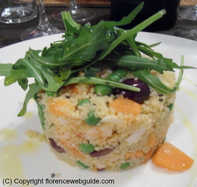 Seafood cous cous with a light sauce