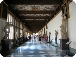 Uffizi Gallery Florence - grand hall