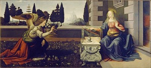 Uffizi Gallery Florence - Leonardo the Annunciation