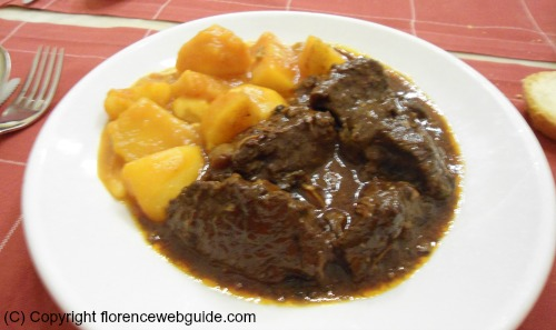 'Peposo' a Tuscan dish of stewed beef with potatoes
