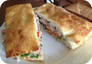 Florence Restaurants - Eating Fast - schiacciata bread filled with goodies