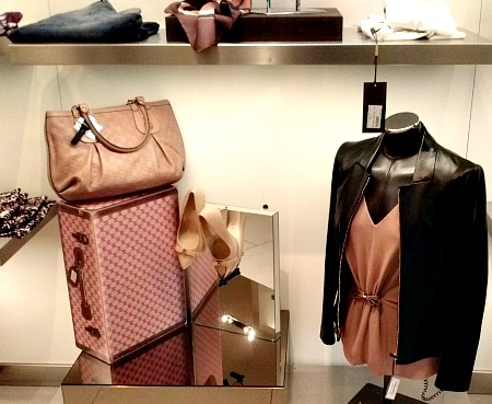 Goods at a Gucci outlet, a main stop at most shopping tours!