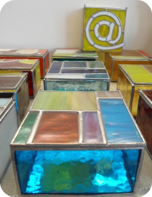 Florence Shopping - Niche Shops - Artigianni stained glass boxes