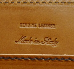 Handcrafted genuine leather products made in Florence