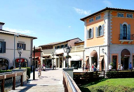 the Barberino Designer Outlet has been built to resemble a renaissance Tuscan town