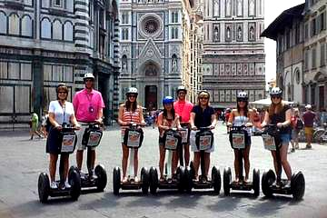 Small group enjoying a Segway tour near the cathedral
