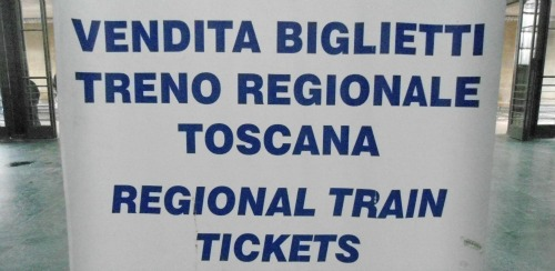 Sign indicating that you can get regional tickets here