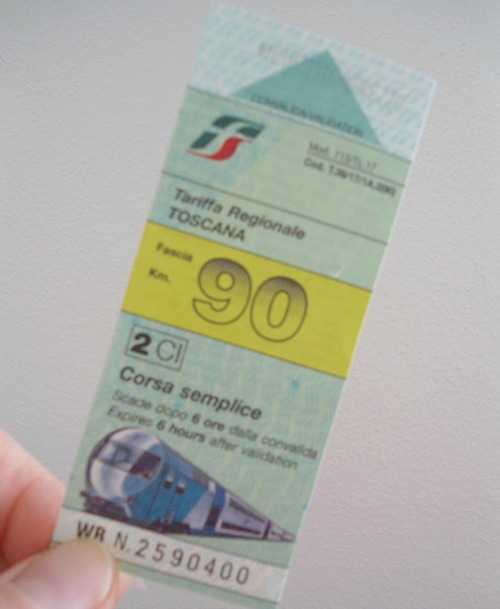 A regional ticket that you can buy at a newsstand
