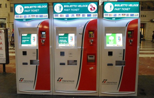 Machines at Florence train station for all types of tickets