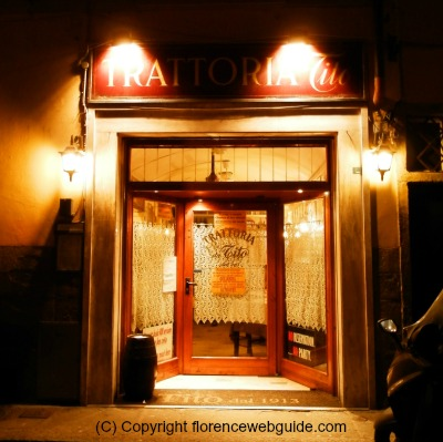 Da Tito trattoria at night