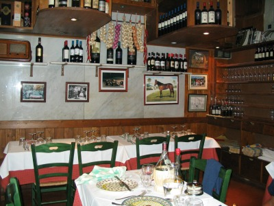 A typical trattoria in Florence