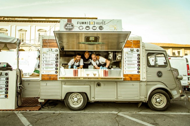An Italian street food truck