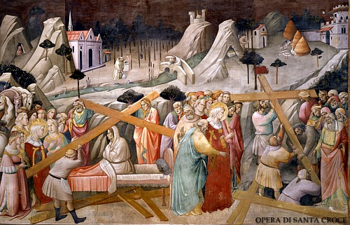 Scene of the discovery of the cross by Agnolo Gaddi