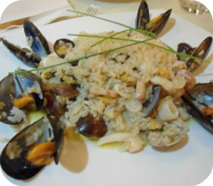 risotto with fish at Il Portale