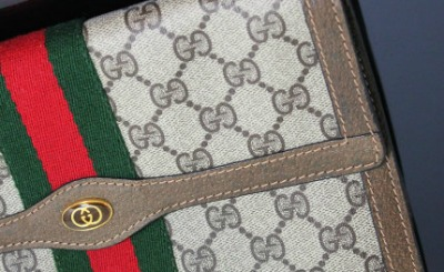 Gucci's iconic green-and-red stripes