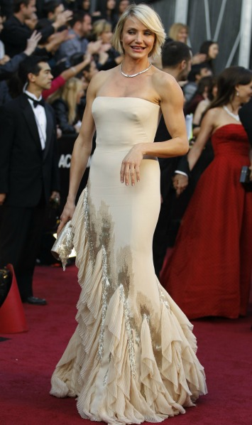 Cameron Diaz in Gucci gown