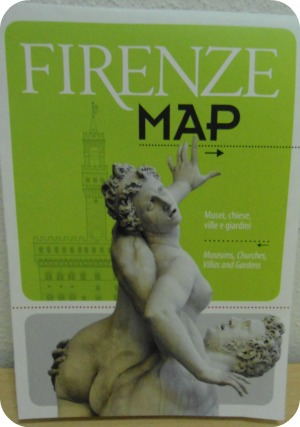 Free Florence map you can get at tourist office