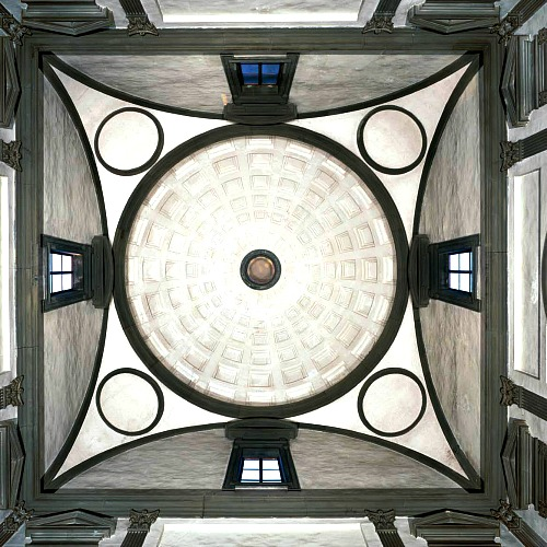 Dome of New Sacristy from below