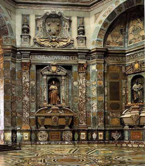 A good view of interior of the Chapel of the Princes at the Medici Chapel Museum