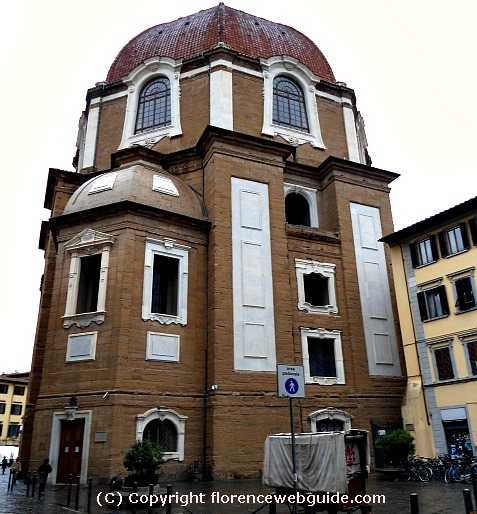 Exterior of the Medici Chapel (Cappelle Medicee)