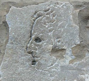 Hidden portrait on Palazzo Vecchio in Florence attributed to Michelangelo