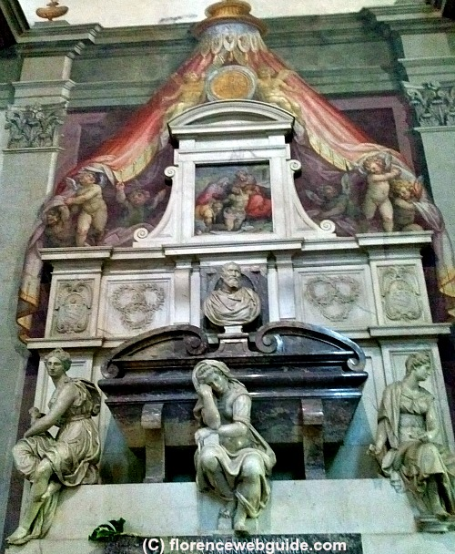 Tomb of Michelangelo designed by Giorgio Vasari (circa 1565)