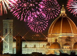 New Year's Eve fireworks in Florence