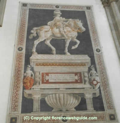 Niccolò da Tolentino, Italian mercenary who defended the Florentines, died in 1435 and buried in the cathedral