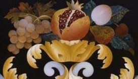 Detail of a piece at the Opificio delle Pietre Dure