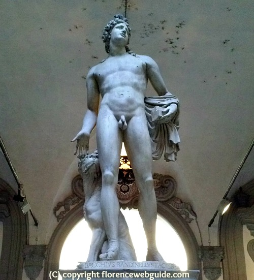 Sculpture of Orpheus - god whose music could tame wild beasts - by Baccio Bandinelli