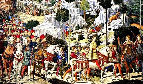 Procession of the Magi by Benozzo Gozzoli in the Cappella dei Magi