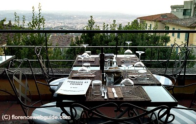 Terrace with view of Florence from Fiesole at Terrazza45