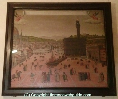 Most well known painting depicting the burning of Savonarola