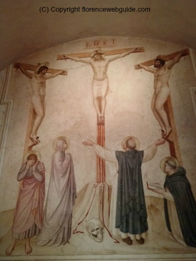 San Marco museum fresco of crucifixion in a monk's cell